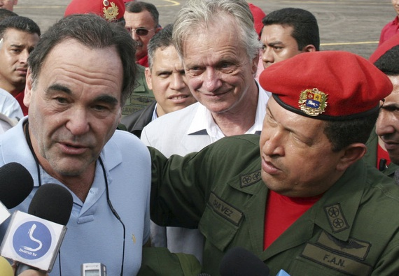Oliver Stone with Hugo Chavez